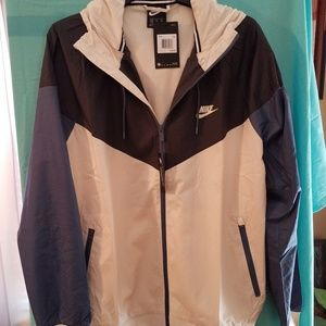 Men's Nike Windrunner Jacket Tan & Dark grey